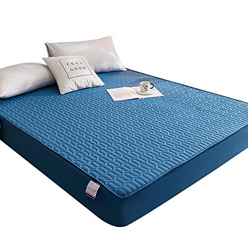 shadiao Waterproof Mattress Protector Bedspread Dustproof Padded Thick Warm Bed Sheet Bedspread