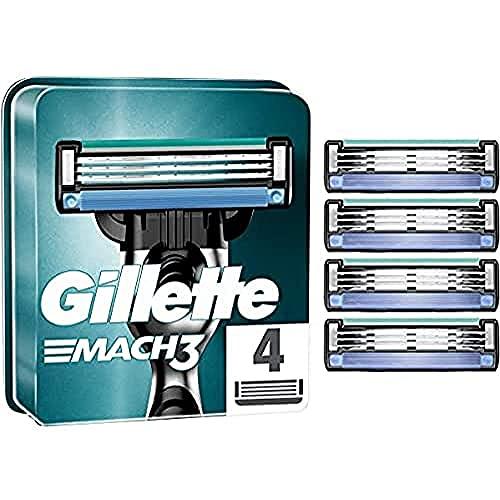 Gillette Mach3 - Cuchillas de recambio para maquinilla de afeitar - 4 Unidades