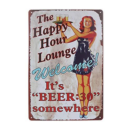 Mitening Blechschild Retro Bier Geschenk Vintage Metall Poster Wandtafel, Vintage-Design, Bier Nostalgie Schild Deko Bar-Schild Beer Motiv für Cafe Bar Pub Group Therapy Practiced Here, 20x30 cm