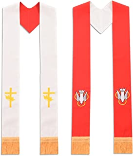 Priest Reversible Stole Red and White