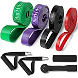 OlarHike Resistance Pull Up Bands Set, Exercise Workout Bands for Women & Men with 2 Foam Handles, Band Guard, Door Anchor, for Working Out, Fitness