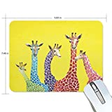 PROEVER Colorful Giraffe Mouse Pad Game Office Thicker Mouse Pad Decorated Mouse Pad