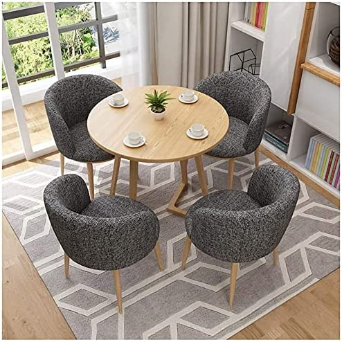 Fashion Seattle Mall All items free shipping Dining Table and Chair Round 80cm Set L Cotton