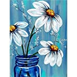 Kaliosy 5D Diamond Painting Flower by Number Kits for Paint with Diamonds Arts Supply Canvas Wall Decor, 12x16inch(X6M-948)