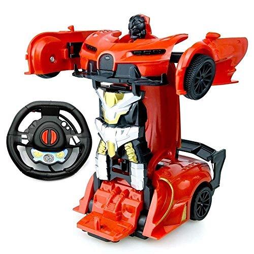 Control remoto Coche para niños 8-12, Control remoto Deformation Vehículo King Kong Collision Deformation Robot eléctrico Mini Collision Deformation One-Collision Deformation Autobots Coche deportivo