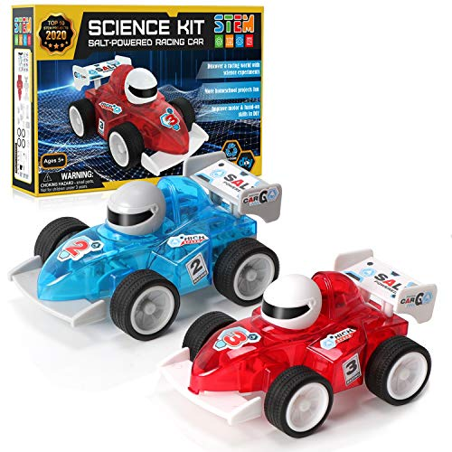 Science Kit, Stem Toys Salt Water Powered Racing Car Green Science Set Vehicle Educational Experiments DIY Activities Learning Toys Gifts for Boys Girls Stem Projects for Kids Ages 8-12, 2 Moving Cars