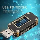 Probador de control de calidad de doble tipo C Detector de banco de potencia 1 Uds Monitor de amplificador USB PD Tester para precisión de la corriente con cable para resistencia(K001)
