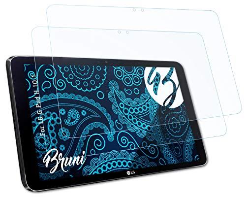 Bruni Schutzfolie kompatibel mit LG G Pad II 10.1 Folie, glasklare Bildschirmschutzfolie (2X)