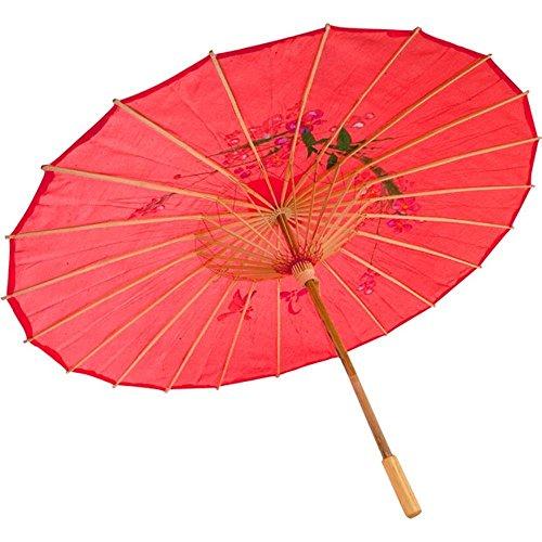 Dasuke Chinese geölte Papier Sonnenschirm Bambus Regenschirm regensicher handgefertigte chinesische geöltem Papier Regenschirm (Red)