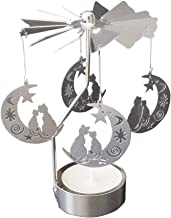 Candle Holders Silver Gold Candlestick Carousel Candlestick Crystal Candle Holders (Color : NO.4)