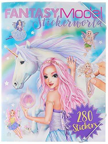 Depesche- Livre de coloriage Stickerworld-Modèle Fantastique-Environ 25 x 33 x 0,8 cm, 10261573, coloré, 33x25x08cm