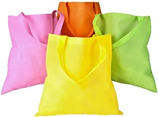 50 pcs Assorted Color Non-Woven Polypropelyne Tote Bags