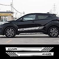 JIERS Toyota Chr用、ドアサイドカーステッカーロングストライプオートスタイリングデカールカーステッカー
