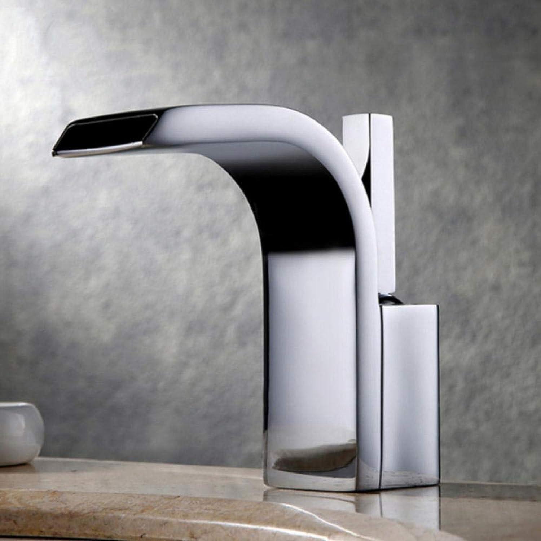 Gorheh Becken Wasserhahn Waschtischmischer Messing Wasserfall Badarmaturen Bad Wassermischer Deck Montiert Armaturen Wasserhhne