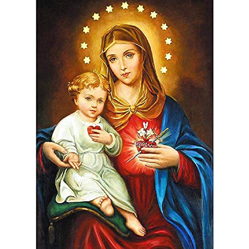 diamond painting religiosi Trendyest 5D Pittura Diamante Madonna con Bambino