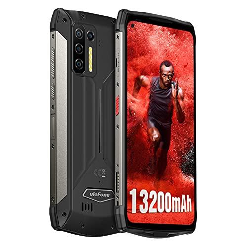 Ulefone Power Armor 13 Rugged Smartphone, 13200mAh Batteria IP68 Smartphone, Helio G95 Processore 8GB + 256GB Android 11 Smartphone, 48MP + 8MP Quattro Fotocamere 6.81 Pollici FHD Schermo-Nero