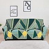 WXQY Bedruckter Stretch-Sofabezug mit geometrischem Muster Sofabezug Ecksofa Chaiselongue-Bezug...