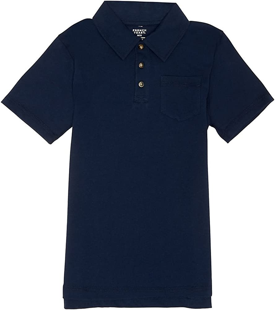 French Toast Boys' Solid Jersey Polo