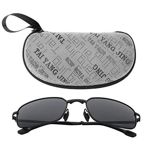 DAUERHAFT Gafas de visión Nocturna Gafas de Sol polarizadas, para Proteger la Piel del Cuerpo Humano(Black Frame Gray Piece)