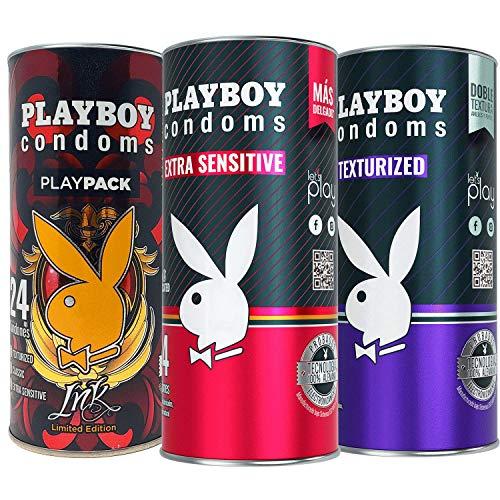 Playboy Condoms 72 Condones 3 Pack Envases con 24 condones c/u: 1 Play Pack...