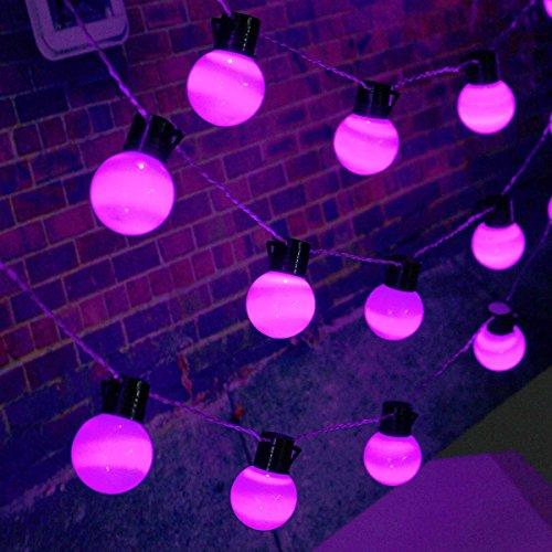 Lichten 10 m 38 ballen LED String Fairy Lights Party Xmas Trouwvakantielamp 22 0V EU Plug (Color : Purple)