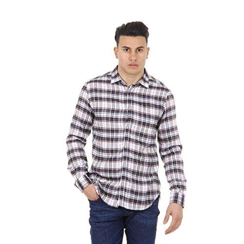 Diesel Hemd Sausan weiß/dunkelblau XL