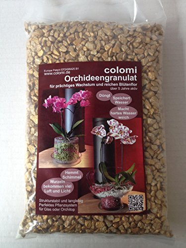 Orchideengranulat 1 l fein gold Colomi Substrat Korngröße 4-8 mm