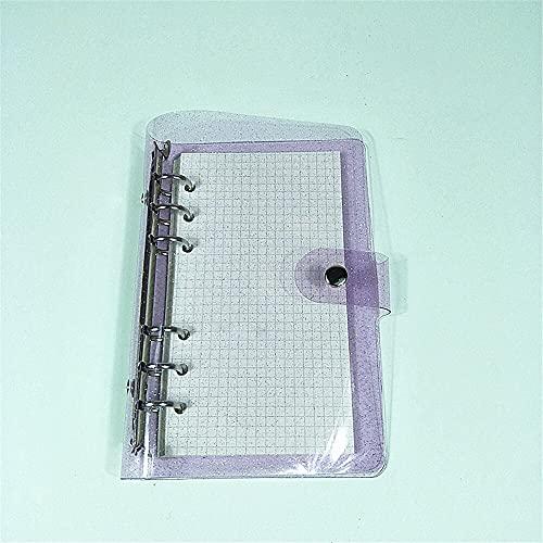 A6 Glitter Notebook 6 Anillos Carpeta Hoja Suelta Carpeta De Archivos Transparente Planificador Kawaii Papelería Diario...