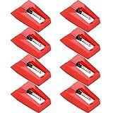 8 Piezas de Agujas de Tocadiscos Agujas de Placa Giratoria de Repuesto para Tocadiscos de Vinilo
