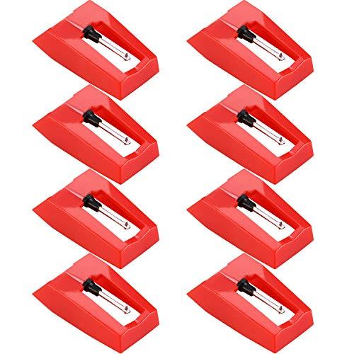 8 Stück Plattenspieler Nadel Plattenspieler Diamant Ersatz Nadel für Schall Plattenspieler