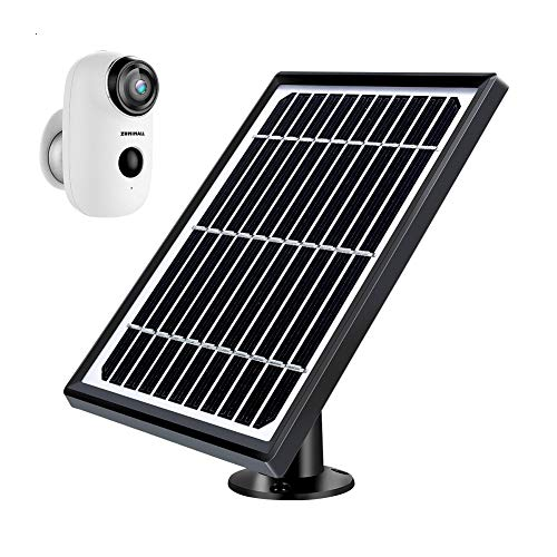ZUMIMALL Solar Panel Power Supply for ZUMIMALL Rechargeable Battery Wireless Security Camera A3/A3P (No Camera)