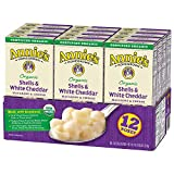 Annie's Organic Shells & White Cheddar Macaroni and Cheese (Pack of 12)