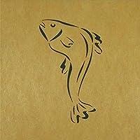 ステンシルシート 鮎の塩焼き 3サイズ型紙 (10cm)