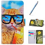 URFEDA Compatibile con Samsung Galaxy S8 Custodia Pelle Cover Retro Flip Case Colorato Cov...