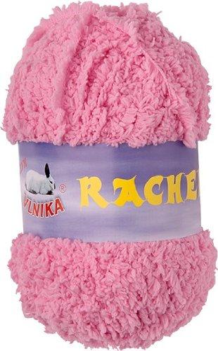 maDDma ® 50g Strickgarn Rachel Kuschelgarn Plüsch-Wolle Fransengarn, Farbe:rosa