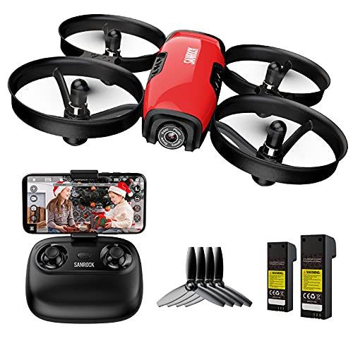 SANROCK U61W Drones with Camera for Kids Adult Beginner 720P HD & 2 Batteries, Mini...