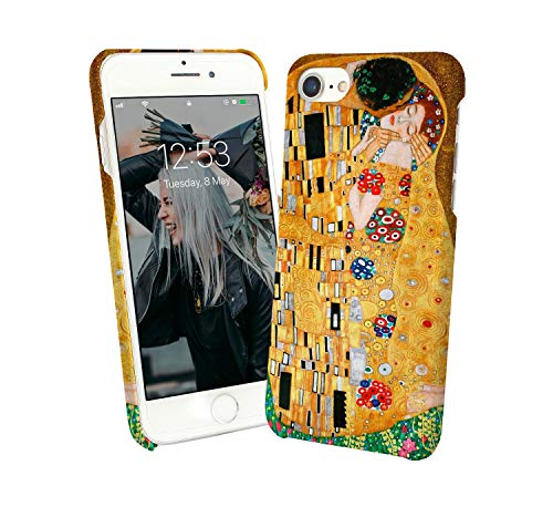 Klimt Kiss Art Painting Gold Flowers Couple Love_000076 iPhone 6 7 8 X Galaxy Note 8 Huawei Custodia Protettiva Hard Plastic Cover Case Regalo anniversario compleanno Natale