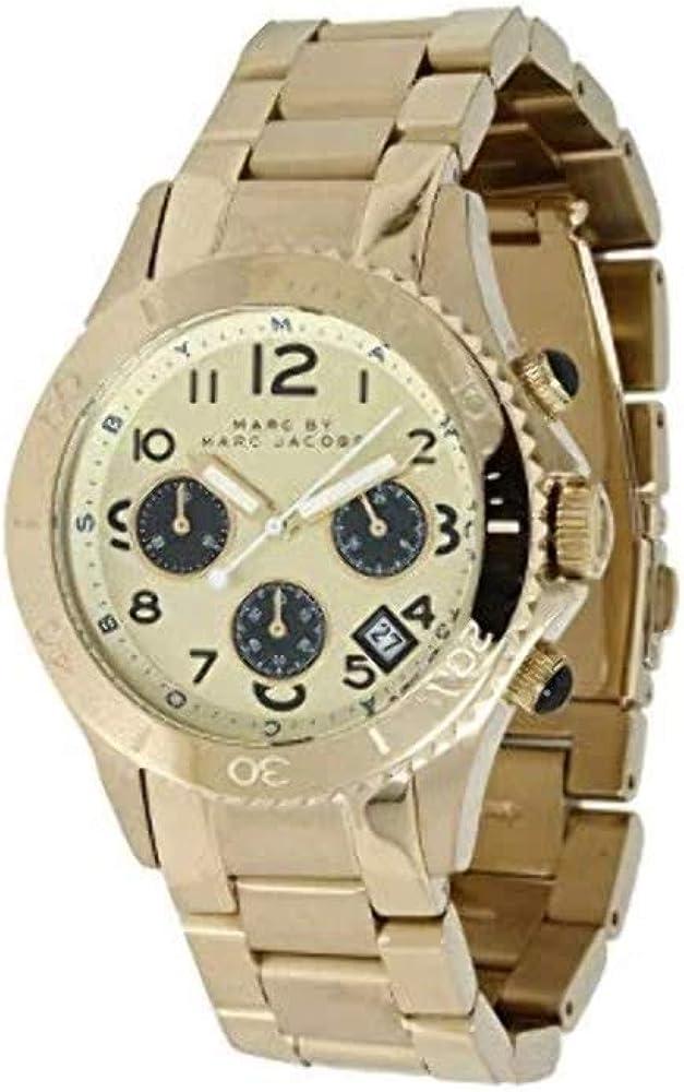 marc jacobs orologio da polso, cinturino in acciaio inox cronografo da donna mbm3158_-