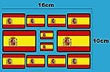 Ecoshirt EN-QS3E-D8CP Pegatinas Banderas De España F207 D Stickers Aufkleber Decals Moto GP Bike Coche, Borde Negro