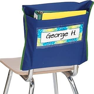 Really Good Stuff Deep-Pocket Chair Pockets - Navy - Set of 36