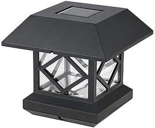 Faros solares de columna, Luces de columna al aire libre IP65 a prueba de polvo y lluvia Control de luz inteligente Decoración de jardín Luces de visualización