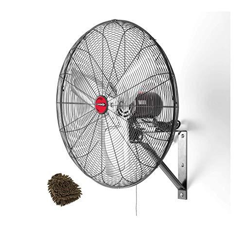 OEMTOOLS 24883 Oscillating Wall Mount Fan, 24 Inches, Black (Complete Set), with Bonus Premium Microfiber Cleaner Bundle