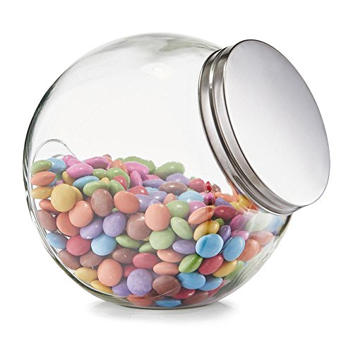 "Vorratsglas ""Candy"" 1200 ml - 15 x 10,5 x 15 cm - Bonbonglas - Dekoglas"
