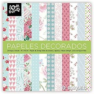 comprar comparacion Busquets - Papeles Decorados Scrapbooking 15x15 Color: Multicolor