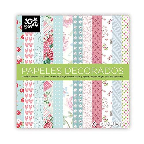 Busquets - Papeles Decorados Scrapbooking 15x15 Color: Multicolor