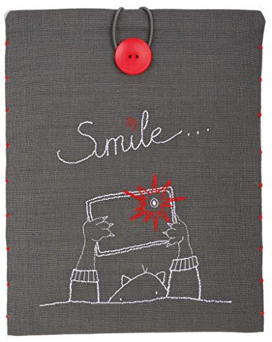 Vervaco PN-0156718 borduurpakket I Pad Cover Smile.