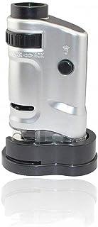 Jiusion Tragbares Mini Mikroskop, 20 fache und 40 fache Vergrößerung, Handgerät, digital, mit LEDs