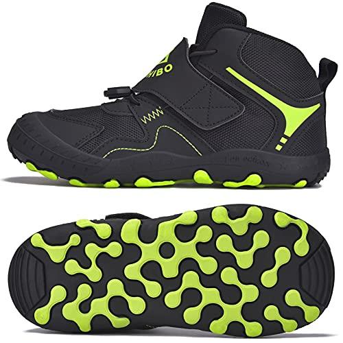 SITAILE Trekkingschuhe für Kinder Wanderschuhe Jungen Mädchen Mit Schnellverschluss Atmungsaktive Schuhe rutschfest Laufschuhe für Outdoor,03 Pink,30EU