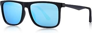 MERRY'S Polarized Square Sunglasses for men Aluminum Legs...