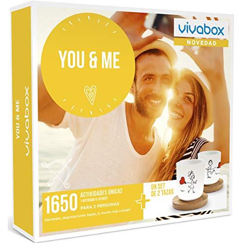 VIVABOX Caja Regalo-You & ME-1.650 Actividades. Incluye: un Juego de 2 Tazas Originales con Platos de Madera